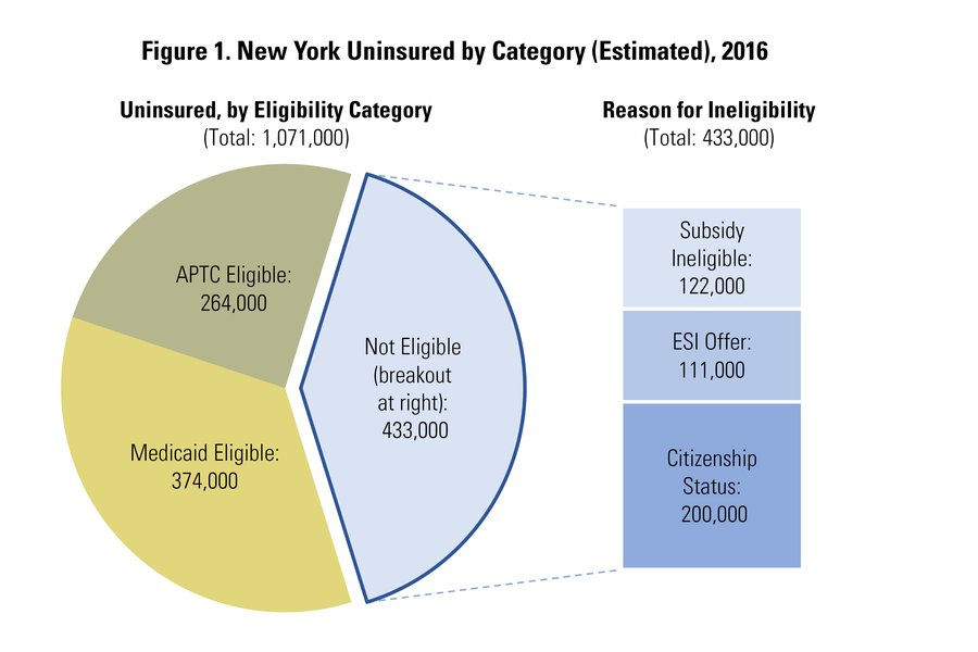 Source: Garfield R, et al. June 2018. Estimates of Eligibility for ACA Coverage Among Those Remaining Uninsured as of 2017. Henry J. Kaiser Family Foundation. https://www.kff.org/uninsured/issue-brief/estimates-of-eligibility-for-aca-coverage-among-the-uninsured-in-2016-october-2017-update